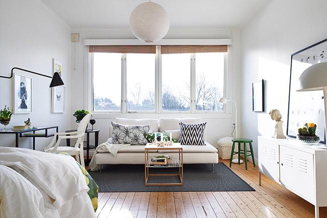 Un apartamento sueco de 33 metros cuadrados for Decoracion apartamento 100 metros