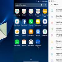 [Actualizado] Las primeras capturas de Android 7.0 Nougat en el Samsung Galaxy S7 muestran una nueva interfaz