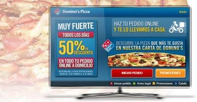 Domino's Pizza lanza la primera aplicación para pedir comida a domicilio desde el televisor