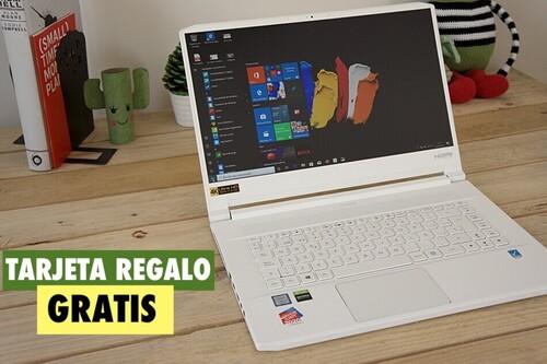 Compra un portátil Acer en PcComponentes en octubre y llévate gratis una tarjeta regalo de 500 euros
