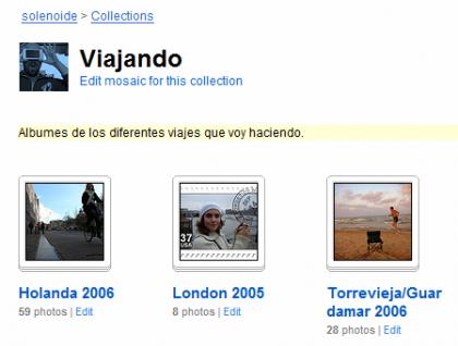 Colecciones de fotos en Flickr