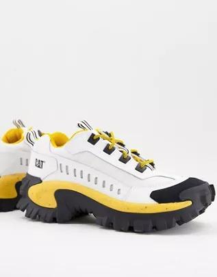 Zapatillas de deporte blancas, negras y amarillas Intruder Vent de Caterpillar