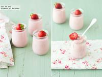 Receta de panna cotta de fresas a la pimienta rosa
