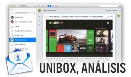 Unibox, analizamos el nuevo cliente de correo para OS X