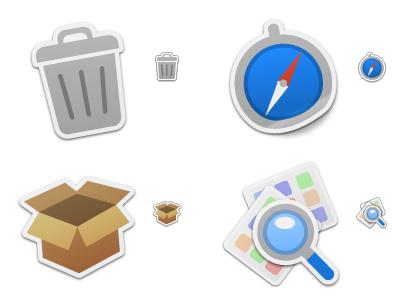 Sticker Pack 1, nuevos iconos de David Lanham