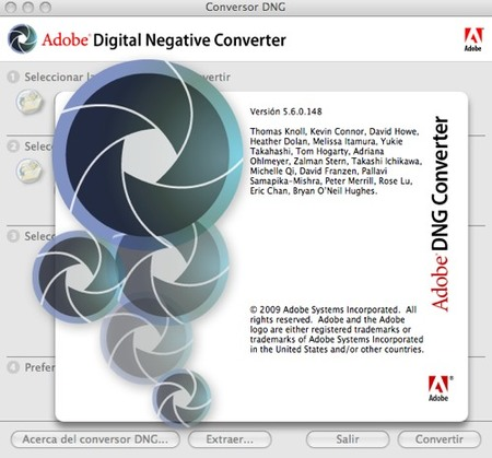 DNG converter captura