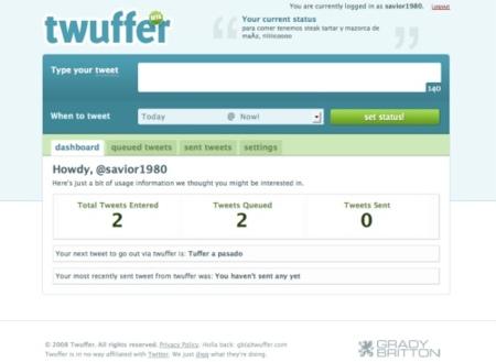 Twuffer, servicio para programar tus tweets