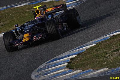 Webber es el más rápido con el viento como protagonista