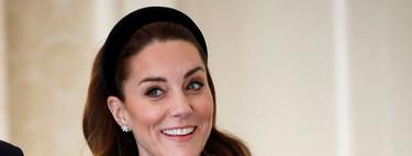 Siete diademas negras acolchadas con las que copiar el look de Kate Middleton y que podremos lucir en cualquier ocasión