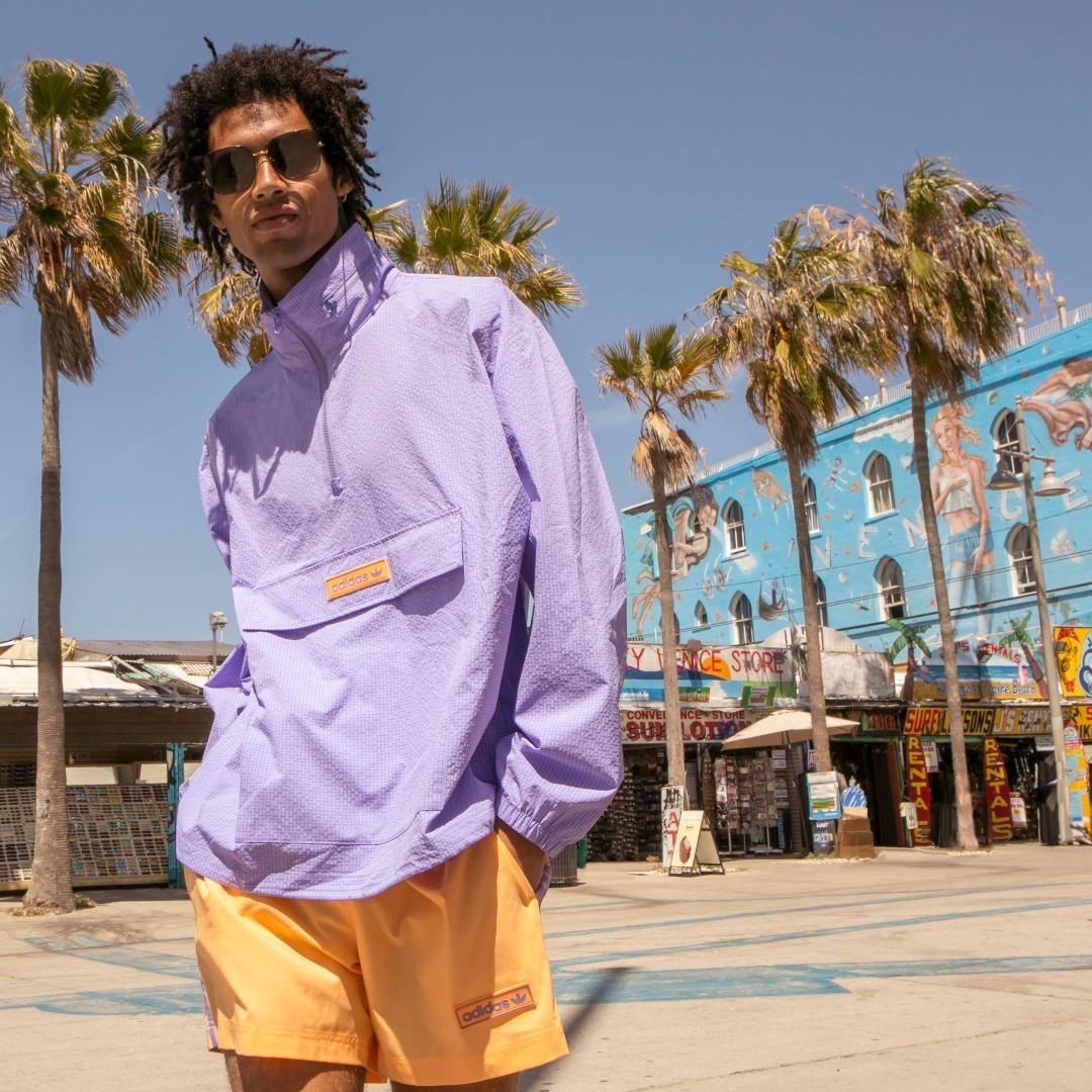 Cortavientos lila con cremallera corta de sirsaca Summer Club de adidas Originals