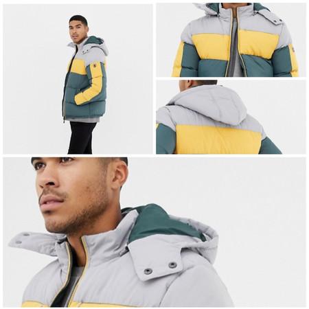 En ASOS tenemos la chaqueta de plumas Soul Star con el estampado  más alegre al 50% de descuento