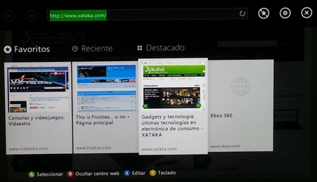 Internet Explorer en Xbox Live