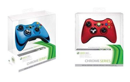 Controles Xbox 360 cromados
