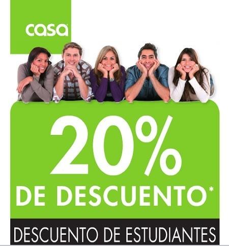 CASA oferta un 20 % de descuento para estudiantes