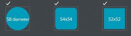 Tamaños del icono de Firefox OS