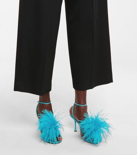 Bottega Veneta Fur Sandals