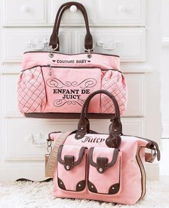 Los Baby Bag de Juicy Couture en terciopelo rosa