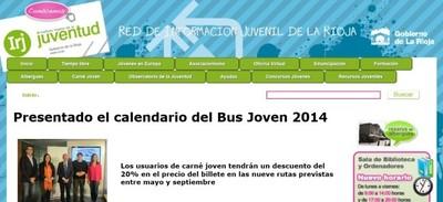 El Gobierno de La Rioja presenta de nuevo su ´Bus Joven`
