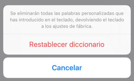Restablecer Diccionario Teclado Iphone Verificar