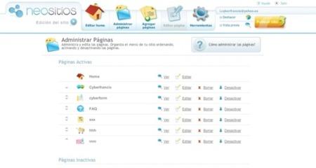 Neositios, creador de sitios web con aspecto profesional, deja de estar en fase beta