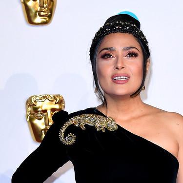Premios BAFTA 2019: Salma Hayek nos demuestra que menos es más con un perfecto vestido negro