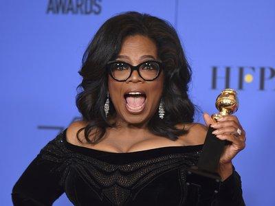 Oprah Winfrey se convierte en la gran protagonista de los Globos de Oro gracias a su poderoso discurso feminista y reivindicativo