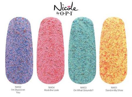 nicole by opi esmaltes texturas
