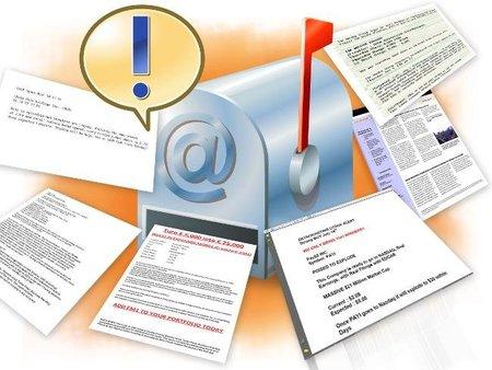 El ochenta por ciento del tráfico de email es spam