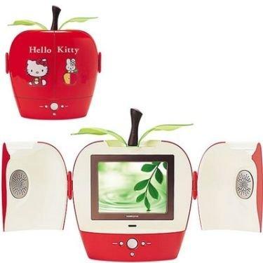 Televisor de Hello Kitty en forma de manzana
