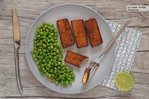 Tofu a la plancha con especias cajún. Receta saludable