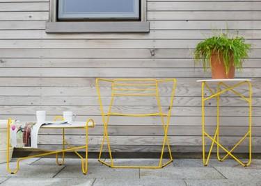 Muebles sencillos de acero para exterior
