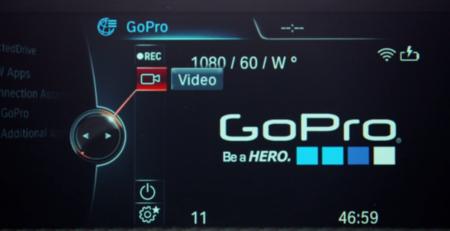 Controlando la GoPro desde el salpicadero de un BMW