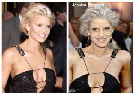 Jessica-Simpson de anciana