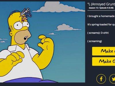 Frinkiac, el buscador de Los Simpson, permite crear GIFs animados con cualquier escena de la serie