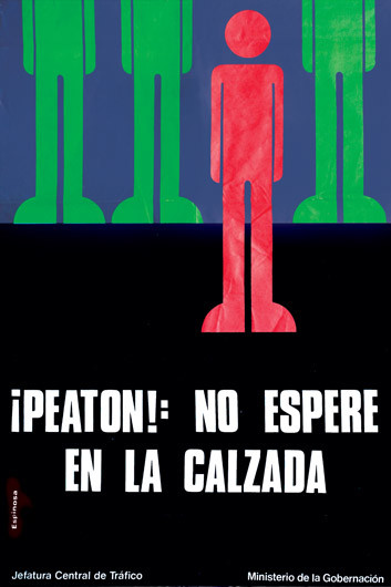 1973 Peaton No Espere En La Calzada