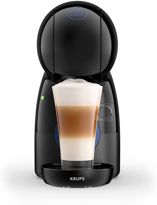 Krups Piccolo KP1A08 - Cafetera cápsulas Dolce Gusto, 15 bares, 1500 W, con depósito de 0.8 l, monodosis multibebidas frías y calientes, manual, color negro + 3 Packs Café Intenso