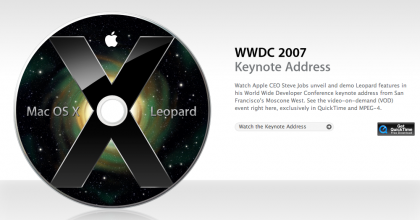 Vídeo de la keynote del WWDC'07 ya disponible