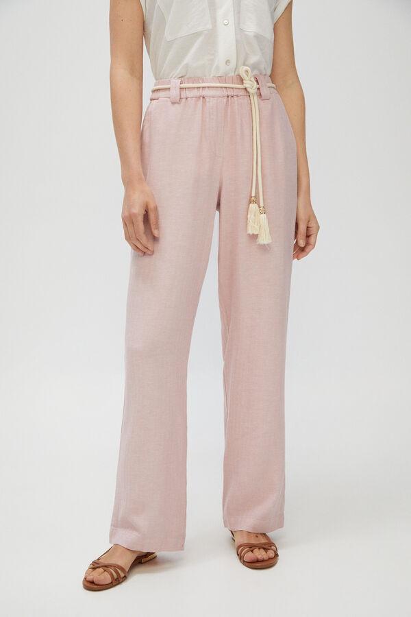 Pantalones casual en rosa