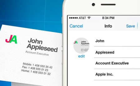 Business Card Reader, del papel a la agenda de contactos de tu iPhone en dos pasos