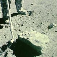 Tras analizar una roca lunar, se concluye que la Luna está seca