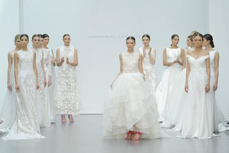 Hannibal Laguna inaugura la Madrid Bridal Week con un desfile que combina romanticismo y modernidad
