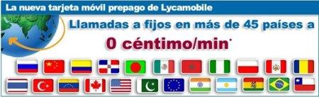 0 céntimos/minuto a 45 países con LycaMobile