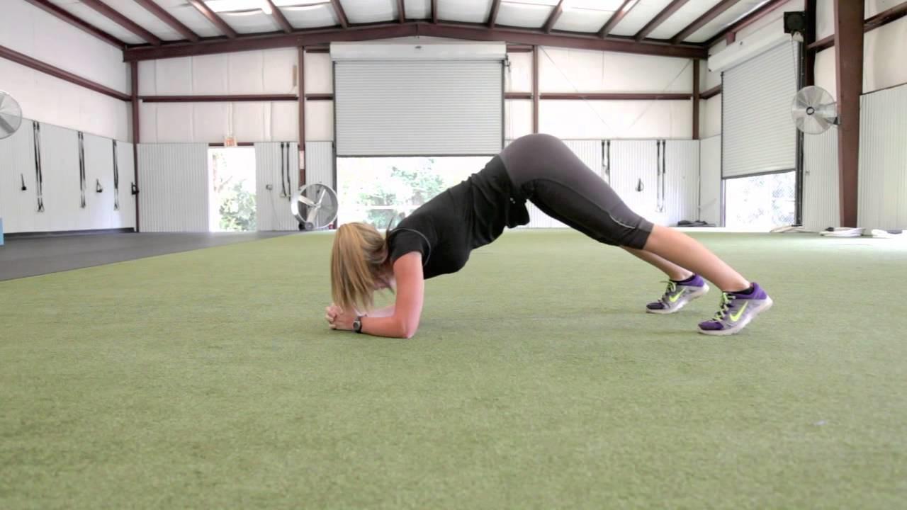 Dolphin push ups para trabajar hombros, brazos y core
