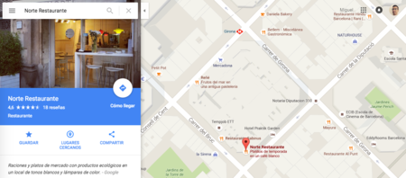 Google Maps Restaurante