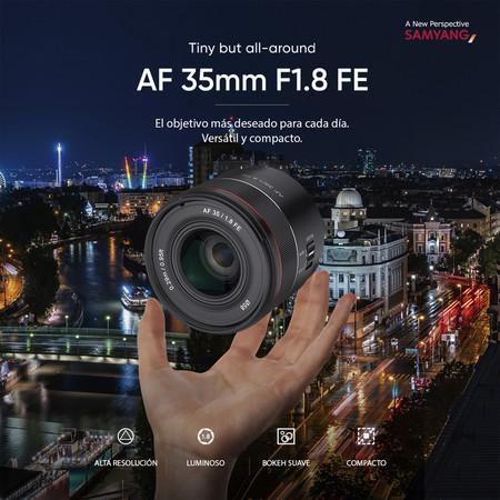 Samyang Af35mm F18 Poster Insta Es 1