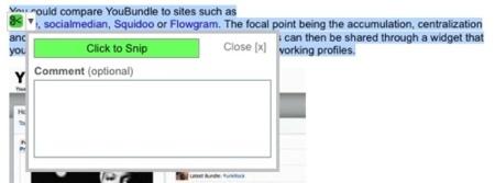 Snipd, almacena y comparte fragmentos de textos, imágenes y vídeos de sitios web
