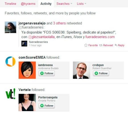 Twitter incorpora la pestaña de Actividad para aumentar innecesariamente las dosis de cotilleo