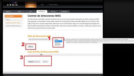 Filtrado Direcciones Mac