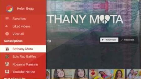 Youtube rediseña su aplicación para televisores