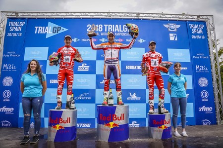 Jaime Busto Toni Bou Jeroni Fajardo Trialgp Espana Podio 2018